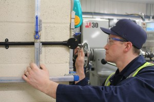 Pipework engineer at work | compressed air pipework installations | air equipment