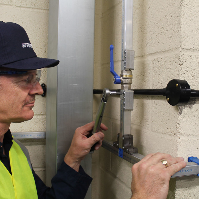 Pipework Engineer at work | Save energy costs on my Compressed Air System | air equipment