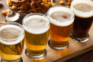 Beer Glasses on a tray | Compressors for Craft breweries | Air Equipment
