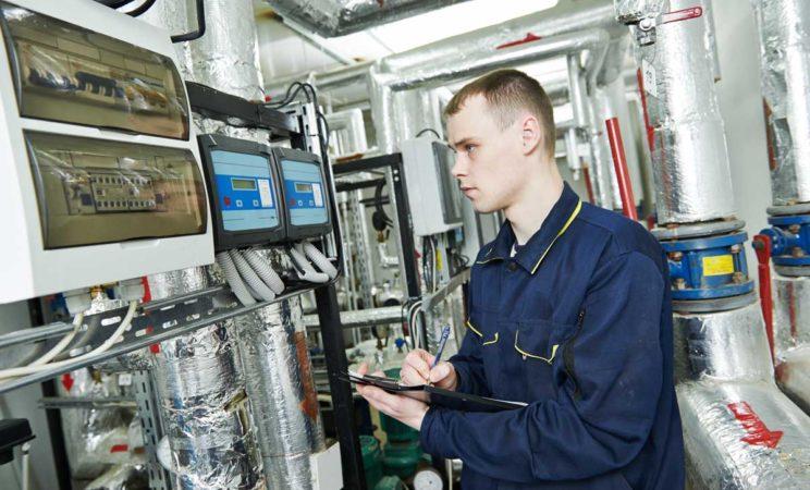 technician checking equipment | Air Compressor daily checks | Air Equipment