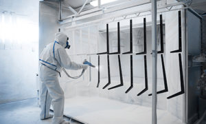 Paint spraying metal components | air compressors | air equipment