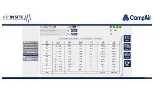 Datalogger screen | Compressed air | air equipment
