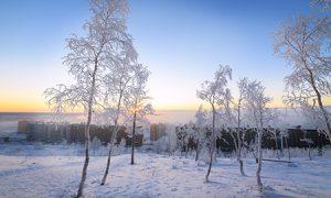 frozen snow scene | Compressed air | air equipment